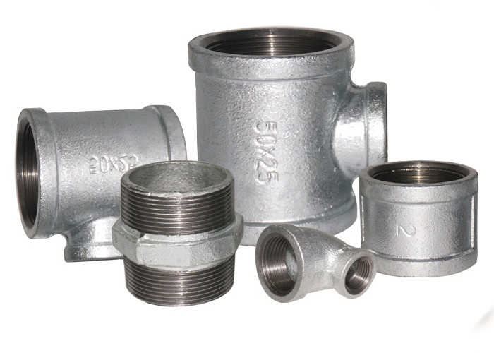 "ISO 49 Standard Malleable Iron Threaded Fittings , Iron Water Pipe Fittings 1/8"" - 6"""